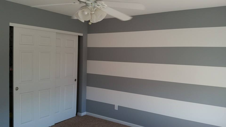 House Painter Custom Interior Painted Wall Stripes Vetical Painted Stripes Horizontal Painted Stripes Hadley Son Painting Maineville Ohio 45039 Call 513 677 9918 Professional Local House Painters
